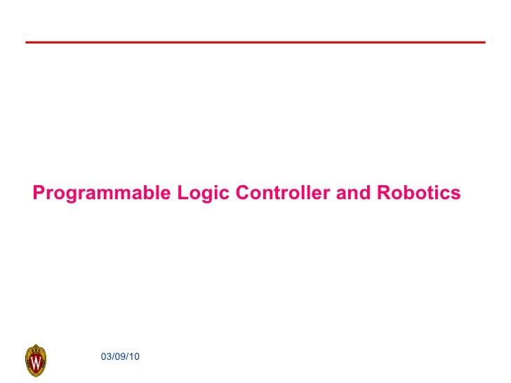 Plc Robotics