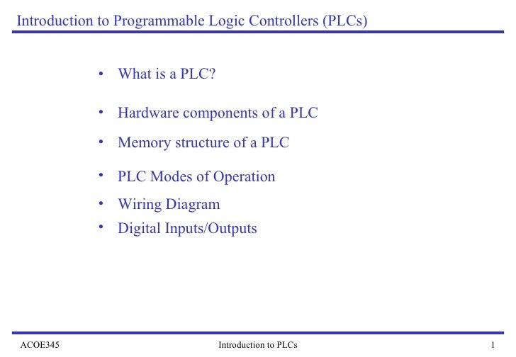<ul><li>What is a PLC?  </li></ul>Introduction to Programmable Logic Controllers (PLCs) <ul><li>Hardware components of a P...