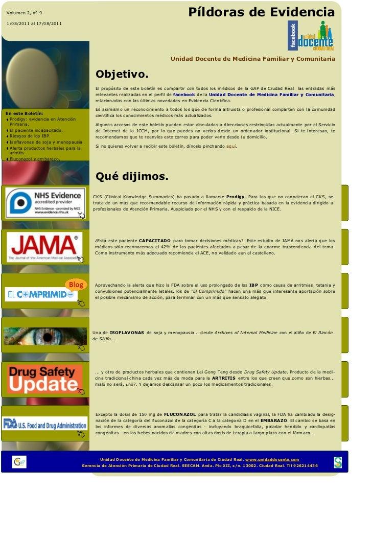 Volumen 2, nº 9                                                                                  Píldoras de Evidencia1/08...
