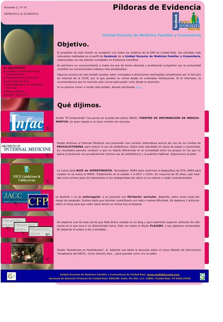 PíldorasEvidencia UDMFyCCR 10