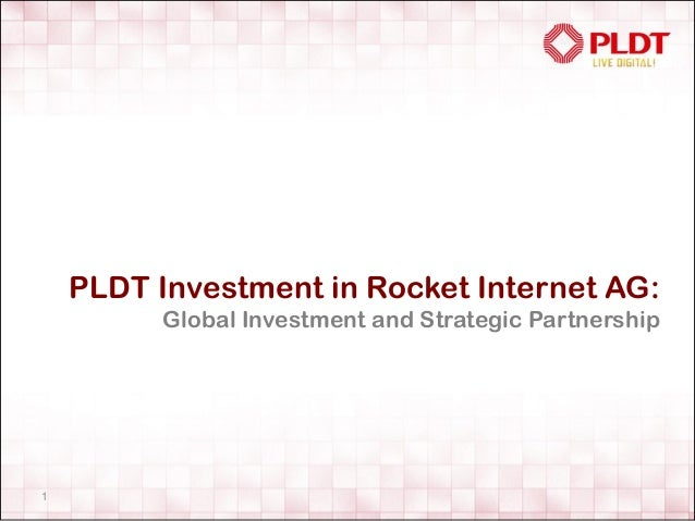PLDT Investment in Rocket Internet