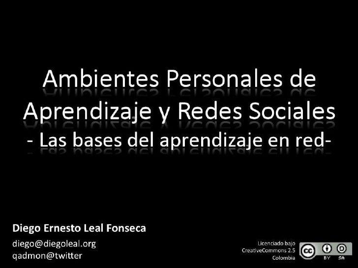 Ambientes Personales de Aprendizaje y Redes Sociales