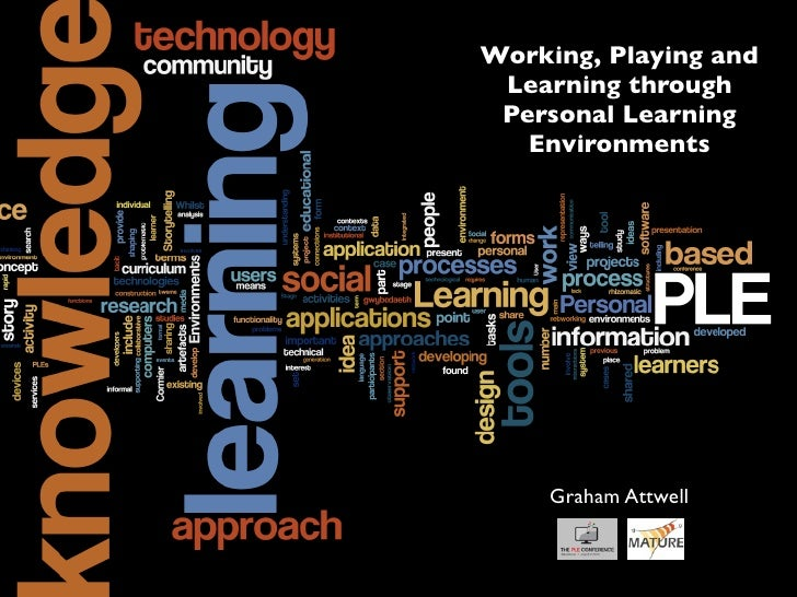 Working, Playing and  Learning through  Personal Learning    Environments         Graham Attwell
