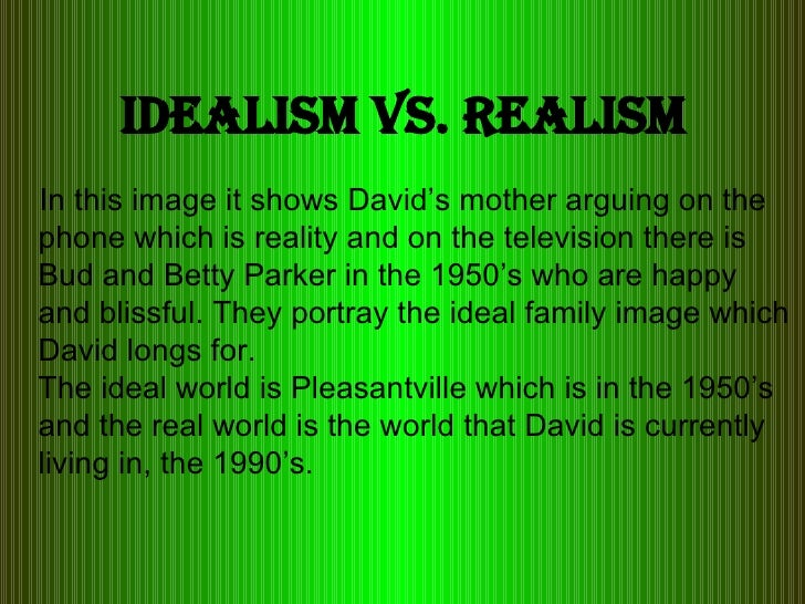 essay on idealism and realism Idealism and realism 7 pages 1720 words december 2014 saved essays save your essays here so you can locate them quickly.