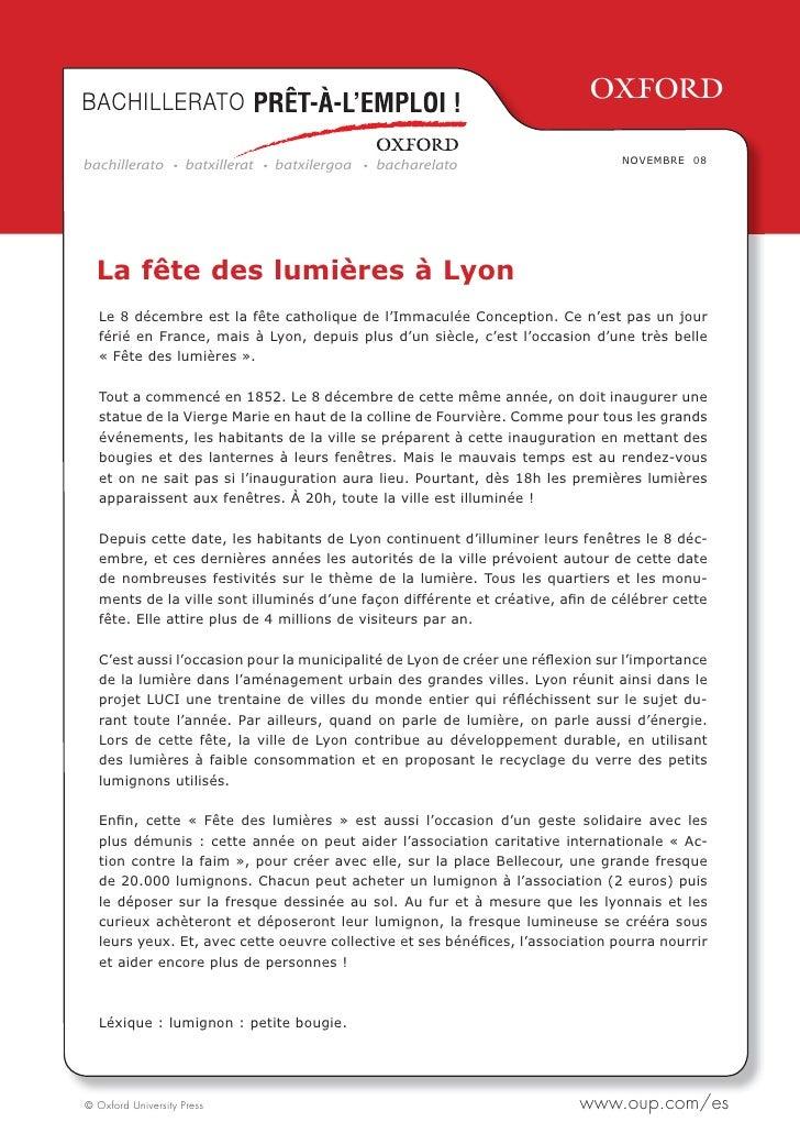 2bachillerato         batxillerat   batxilergoa   bacharelato                   NOVEMBRE 08  La fête des lumières à Lyon  ...