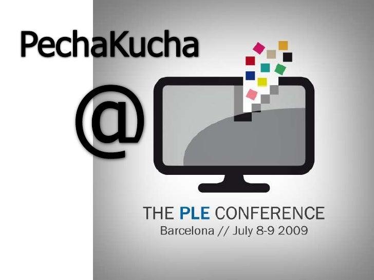 PLE_BCN pechakucha session in english