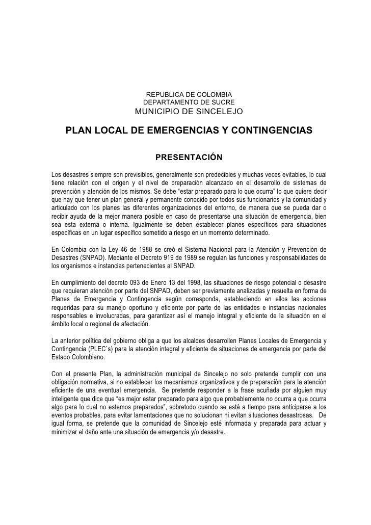 REPUBLICA DE COLOMBIA                                  DEPARTAMENTO DE SUCRE                              MUNICIPIO DE SIN...