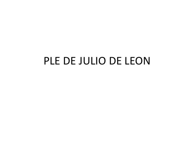 PLE DE JULIO DE LEON