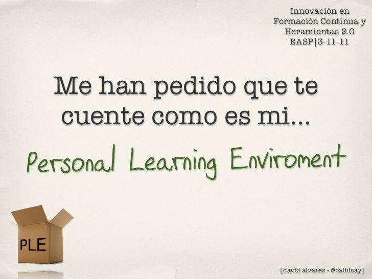 PLE_ entorno personal_aprendizaje