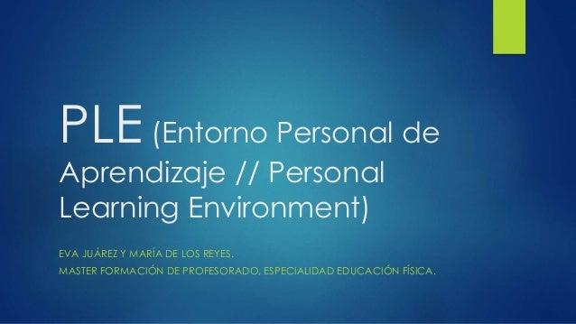 PLE (Entorno Personal de  Aprendizaje // Personal  Learning Environment)  EVA JUÁREZ Y MARÍA DE LOS REYES.  MASTER FORMACI...