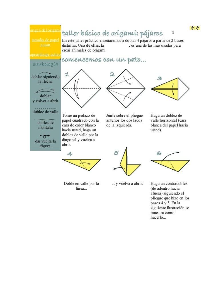 origen del origami                                                                                       1 2 3 4  tamaño d...