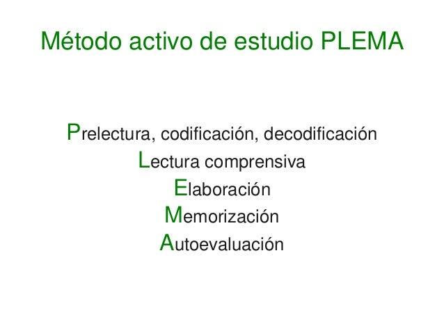 Prelectura,codificación,decodificación Lecturacomprensiva Elaboración Memorización Autoevaluación Métodoactivode...