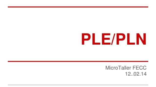 PLE/PLN MicroTaller FECC 12..02.14