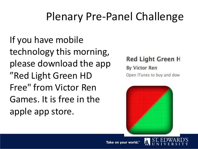 """If you have mobile technology this morning, please download the app """"Red Light Green HD Free"""" from Victor Ren Games. It is..."""
