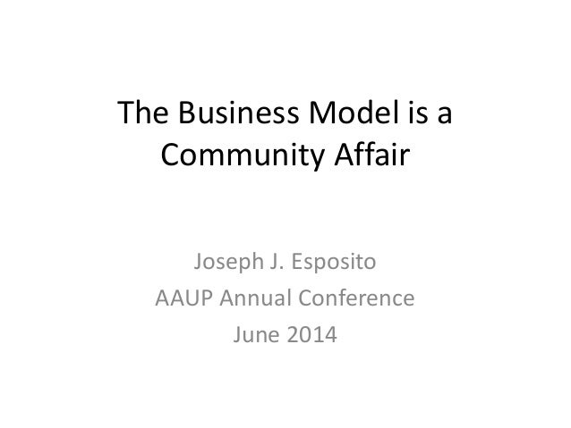 AAUP 2014: Not Just Open Access (J. Esposito)