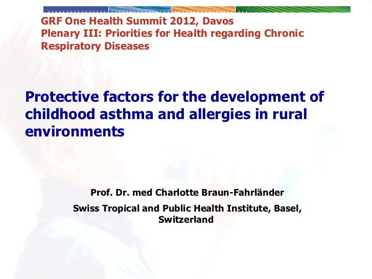 Protective Factors for the Development of Childhood Asthma and Allergies Encountered in Rural Environments