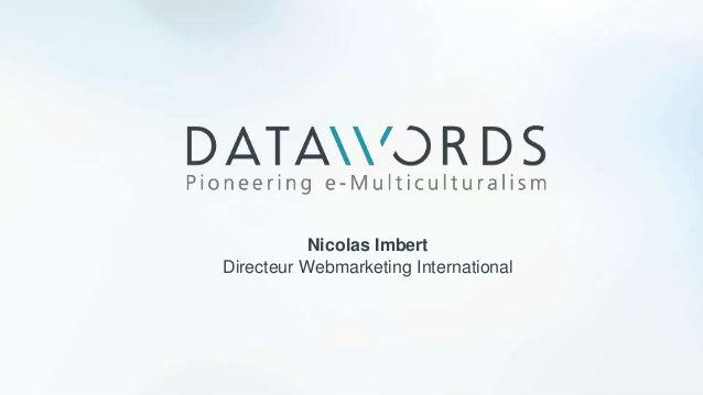 Nicolas Imbert Directeur Webmarketing International