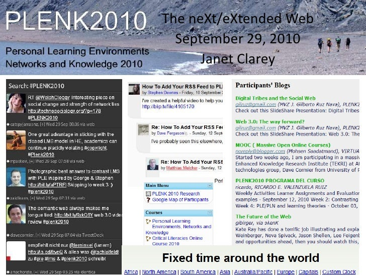 The neXt/eXtended Web<br />September 29, 2010<br />Janet Clarey<br />
