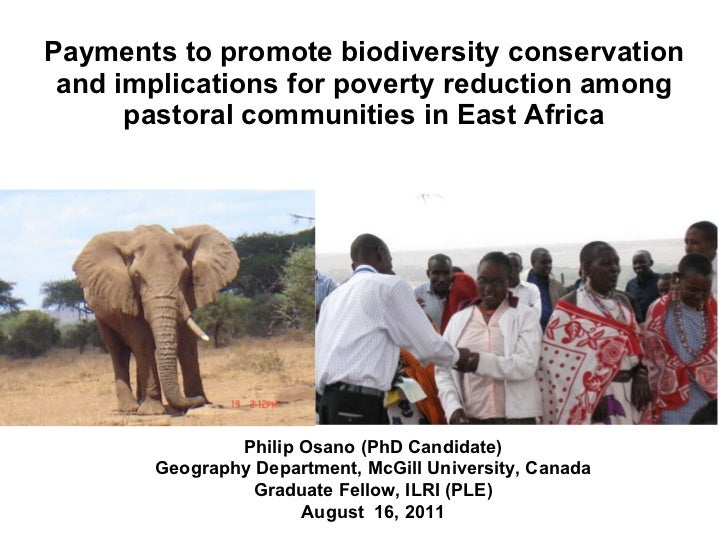 Payments to promote biodiversity conservation and implications for poverty reduction among pastoral communities in East Af...