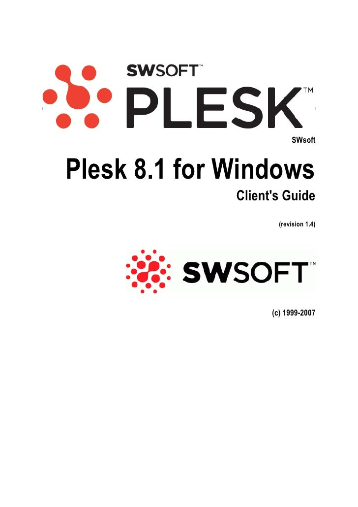 Plesk 8.1 for Windows