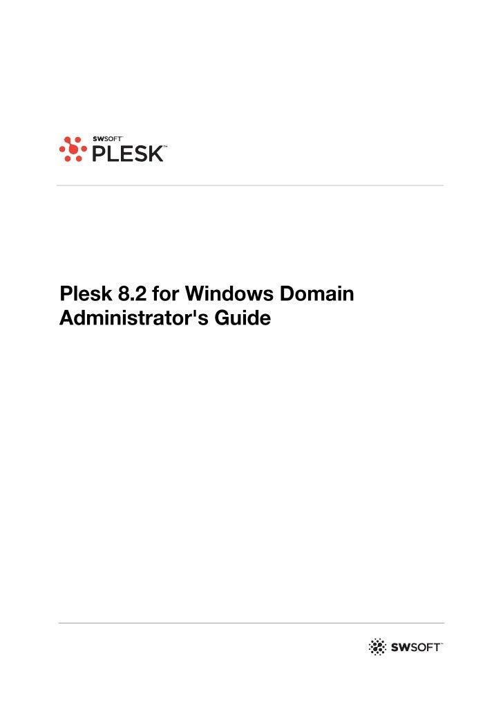 Plesk 8.2 for Windows Domain Administrator's Guide