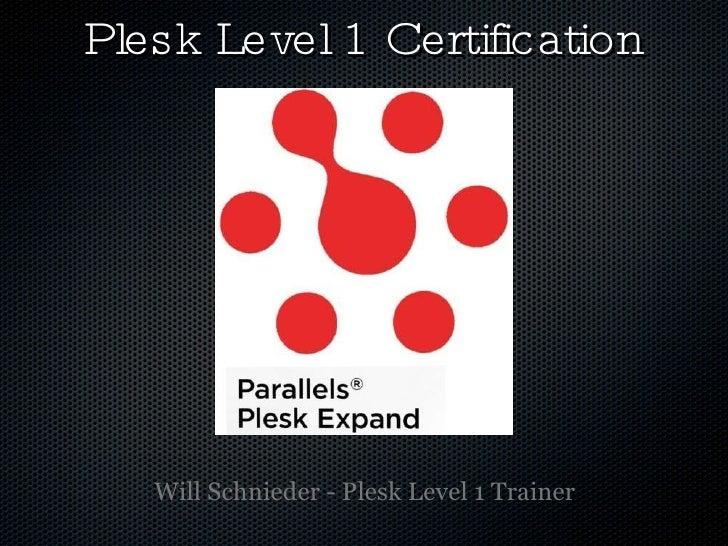 Plesk Training Level 1