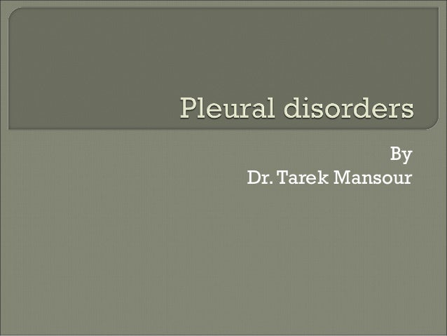 Pleural disorders