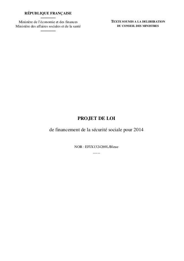 RÉPUBLIQUE FRANÇAISE ———— Ministère de l'économie et des finances Ministère des affaires sociales et de la santé ————  TEX...