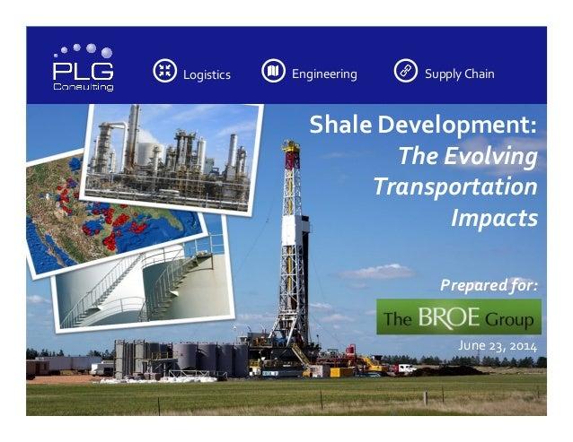 Logistics         Engineering         Supply  Chain         Shale  Development:       Th...