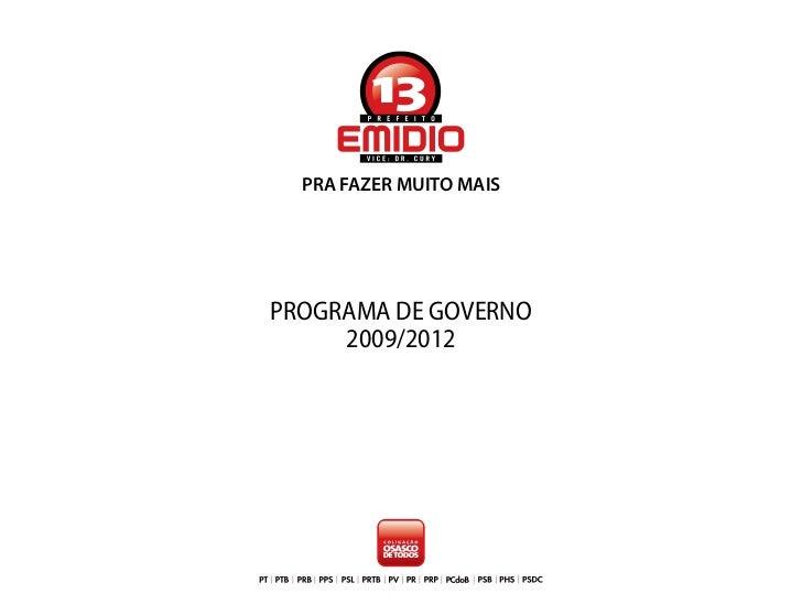Proposta Emídio Pereira de Sousa - Osasco (SP) - 2009 a 2012