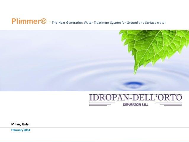 Plimmer® Capacitive Deionization at Idropan