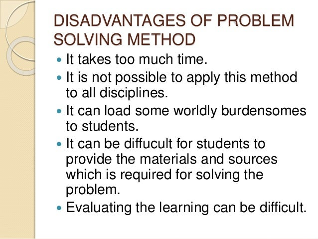 What is problem solving method of teaching