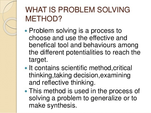 Problem solving teaching style