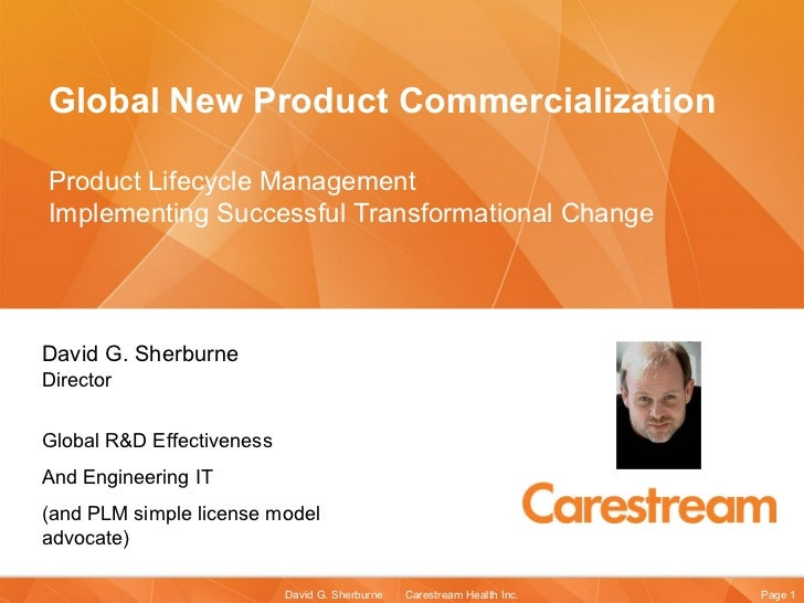 Global New Product Commercialization Product Lifecycle Management  Implementing Successful Transformational Change   David...