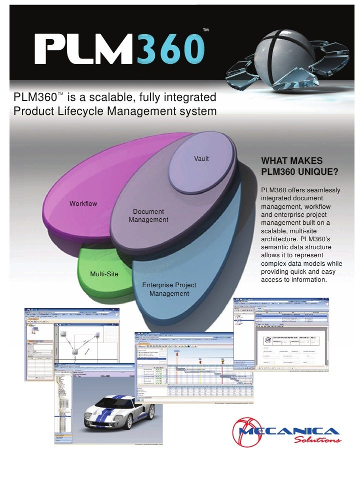™     PLM PLM360 is a scalable, fully integrated         TM              TM    Product Lifecycle Management system        ...