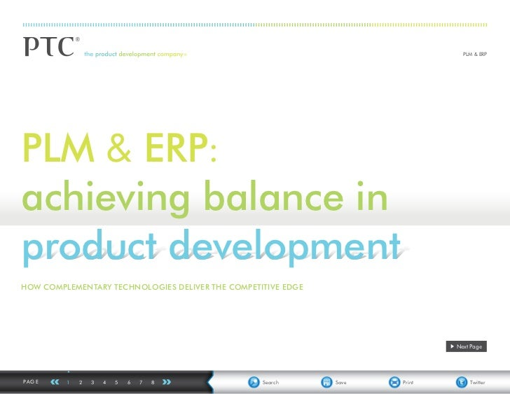 PLM & ERPPLM & ERP:achieving balance inproduct developmentHOW COMPLEMENTARY TECHNOLOGIES DELIVER THE COMPETITIVE EDGE     ...