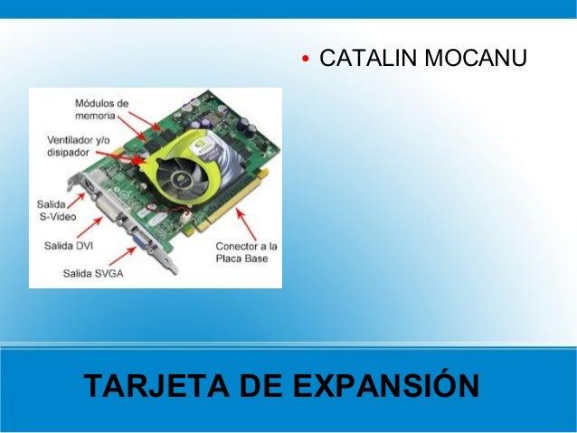 ●   CATALIN MOCANUTARJETA DE EXPANSIÓN