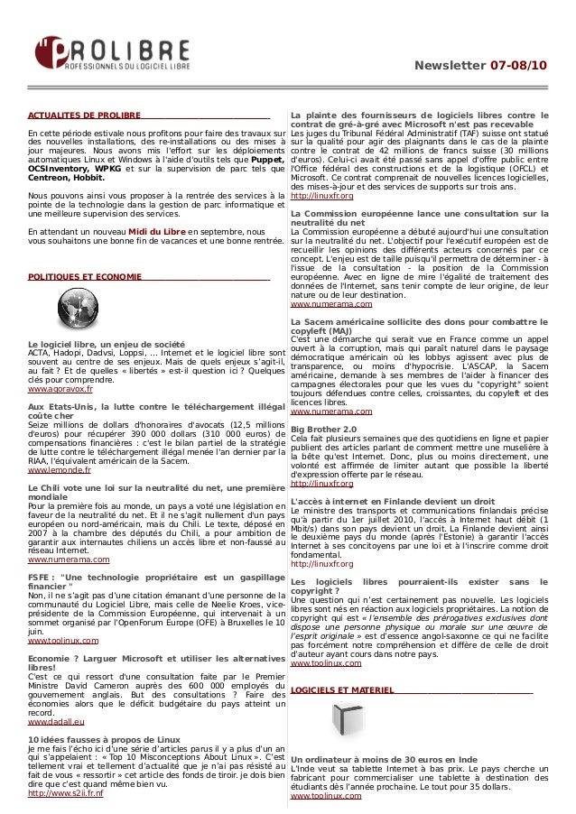 Pl news letter_juillet_aout10