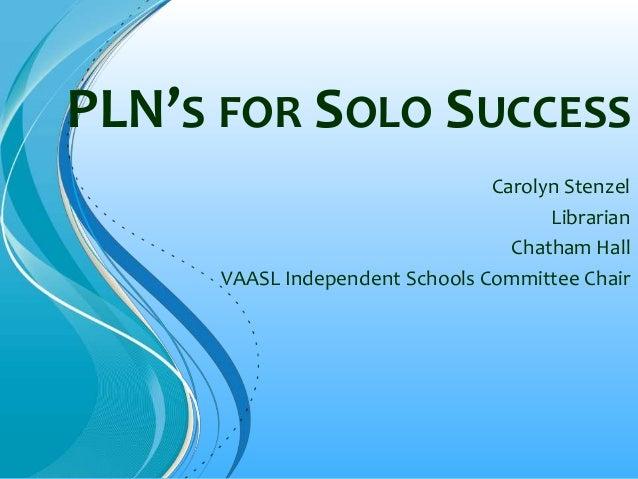 PLN Presentation VAASL 13