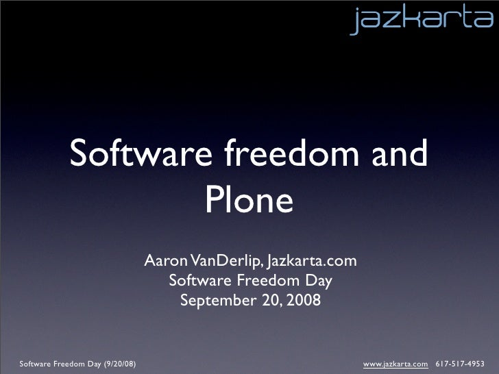 Plone Community   Software Freedom Day 2008