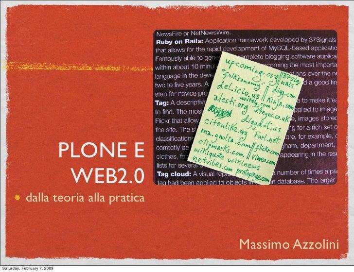 PLONE E                               WEB2.0            dalla teoria alla pratica                                         ...