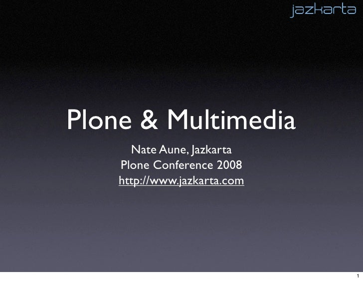 Plone and Multimedia