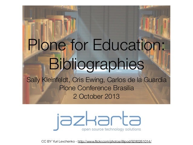Plone for Education: Bibliographies