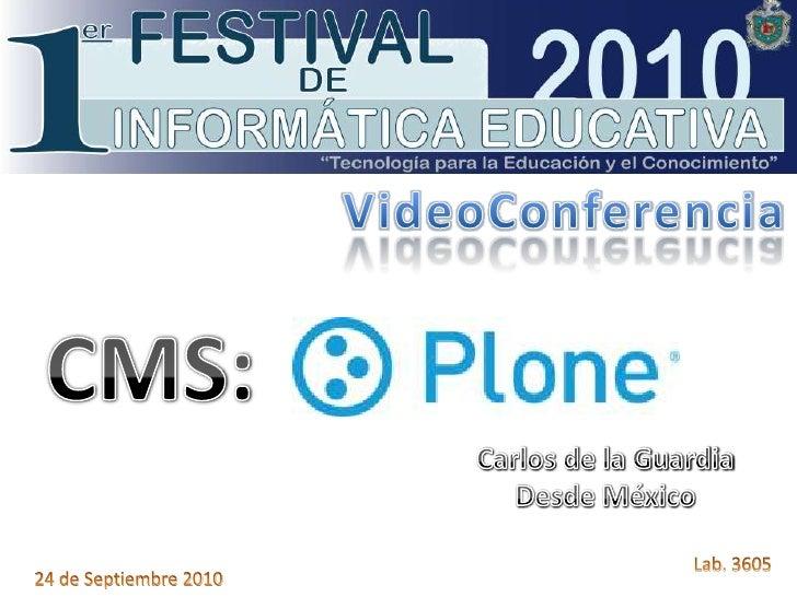 VideoConferencia: CMS PLONE