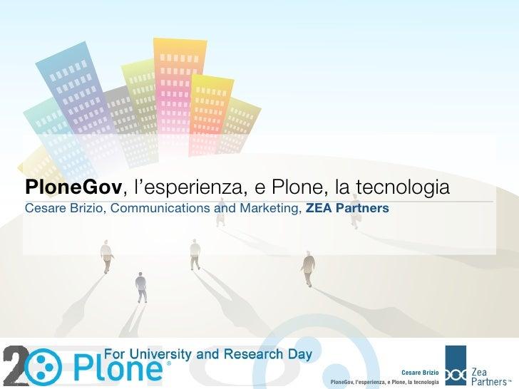 PloneGov - Presentazione TIGEM 26/11/2010