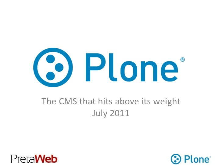 Plone: The CMS that hits above it's weight