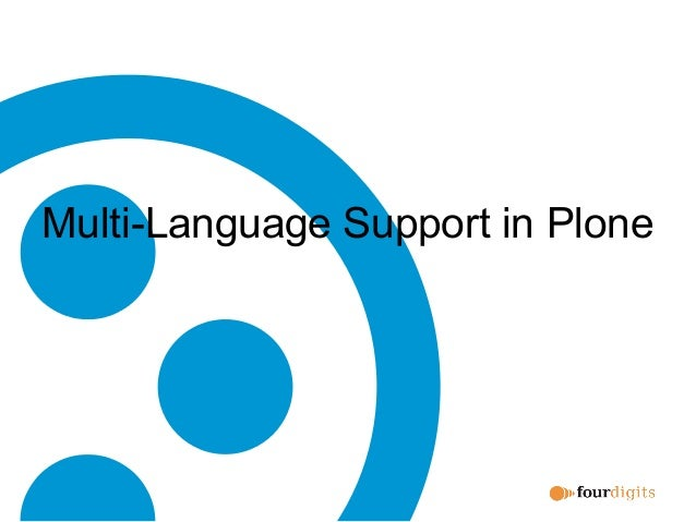 Multi-Language Support in Plone