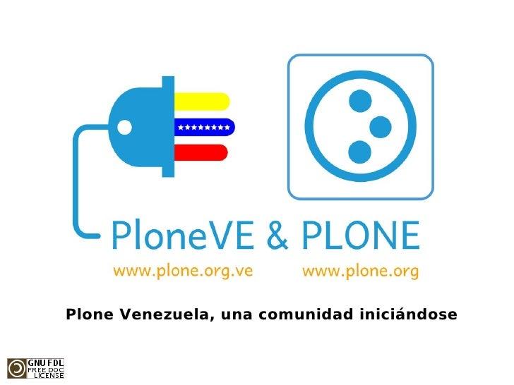 Plone Venezuela, una comunidad iniciándose