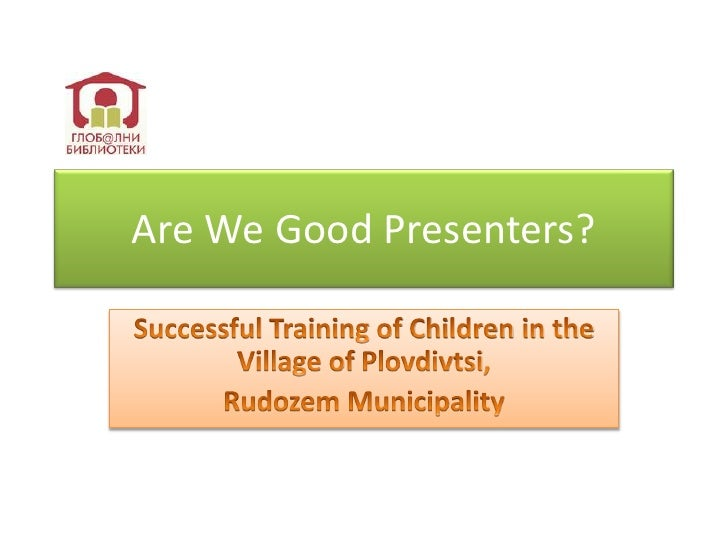 Presentation Skills for Children in Plovdivtsi