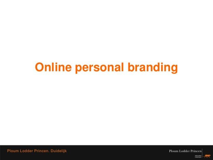 Online personal branding<br />